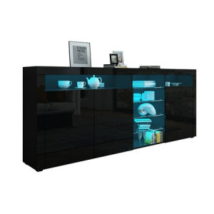 180cm Sideboard Buffet With Glass Shelves