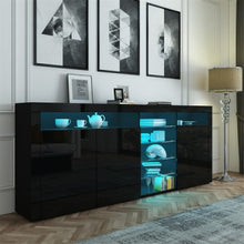 Load image into Gallery viewer, 180cm Sideboard Buffet With Glass Shelves