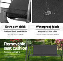 Load image into Gallery viewer, Waterproof Swing 3 Seater Chair