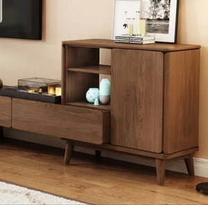 Shaalimaar Solid Wood Tv Unit With Retractable Cabinet