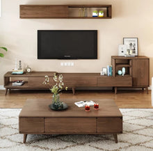 Load image into Gallery viewer, Shaalimaar Solid Wood Tv Unit With Retractable Cabinet