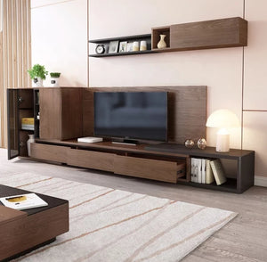 Rooka 2.4meter Ultra Solid Tv Unit with Cabinet and Top Shelve