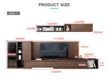 Load image into Gallery viewer, Rooka 2.4meter Ultra Solid Tv Unit with Cabinet and Top Shelve
