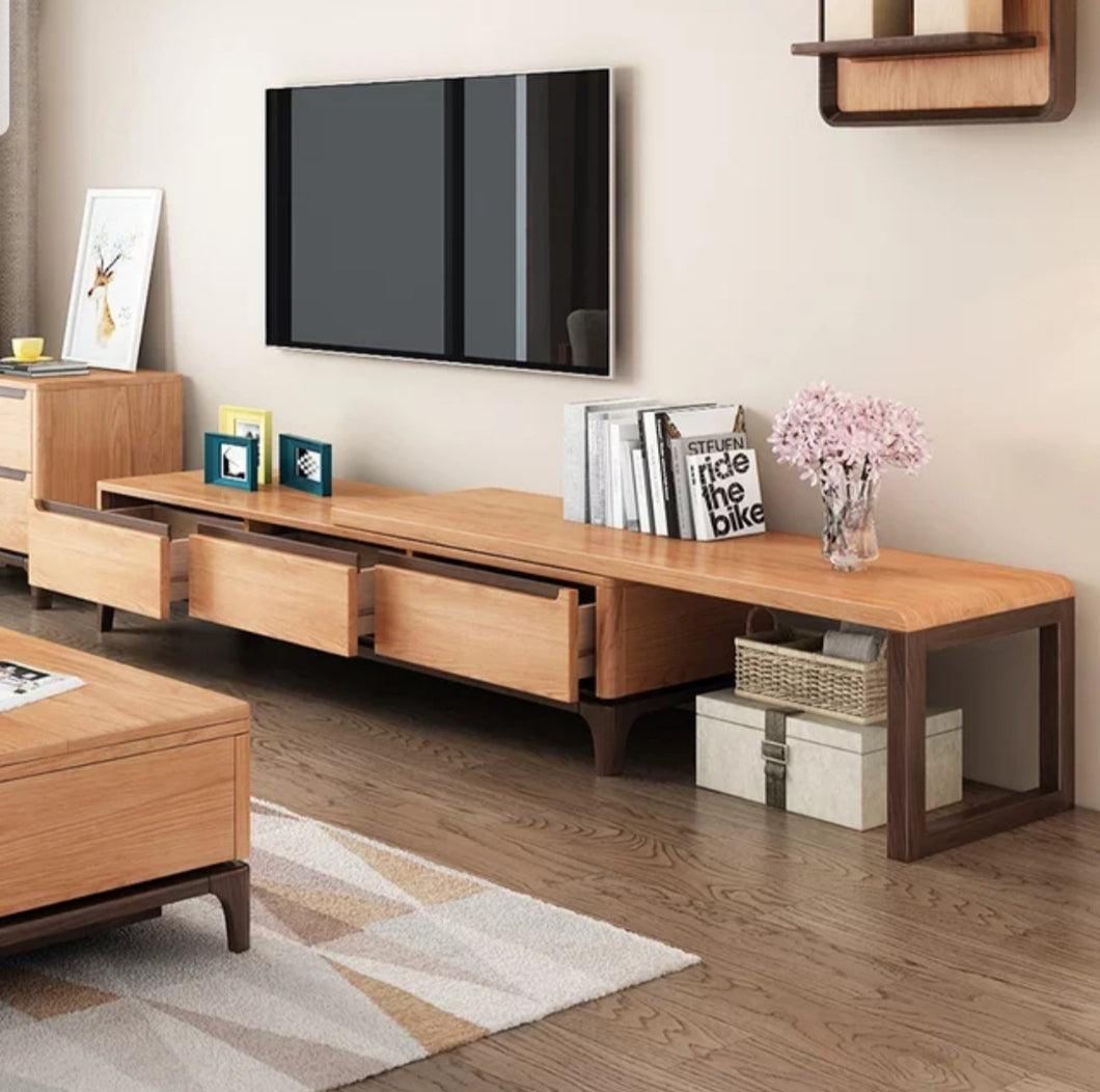 Silaika Solid Wood Tv Unit