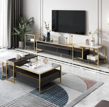 Load image into Gallery viewer, Super Attractive Golden Frame Tv Unit