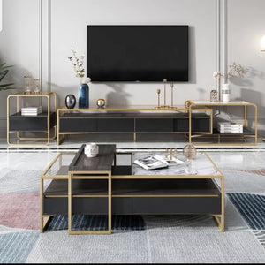 Super Attractive Golden Frame Tv Unit