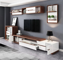 Load image into Gallery viewer, Riverwood Solid wood and High Gloss Entertainment Unit