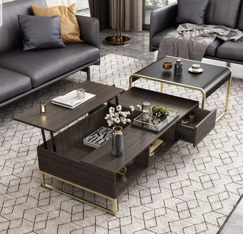 Safeena Black and Golen Coffee Table 2020 Model