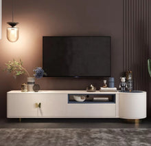 Load image into Gallery viewer, Butterfly Ivory Premium Entertainment Tv Unit
