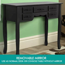 Load image into Gallery viewer, Modern Dressing Table All Black