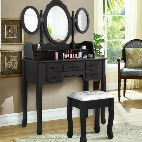 Modern Dressing Table All Black