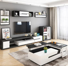 Load image into Gallery viewer, Modern Riverwood Black and White Tv Unit Entertainment unit