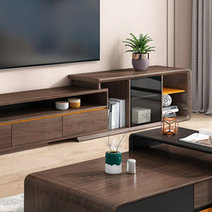 Fawla Wooden Tv Unit With Drawers