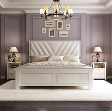 Load image into Gallery viewer, Romack Lux Solid Wood Bed Frame Tufted bedhead White