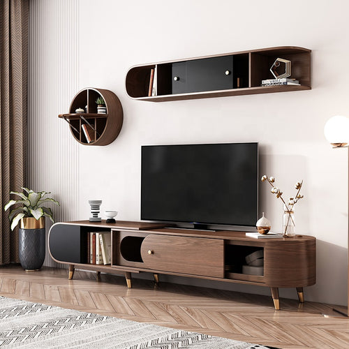 Robella Modern Solid Wood Tv Cabinet Entertainment Unit