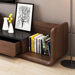 LAFQX Solid Wood Modern Tv Entertainment Unit Cabinet