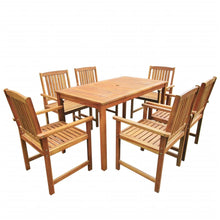 Load image into Gallery viewer, Solid wood Outdoor Dining Set