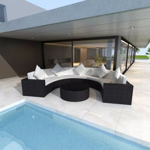 Load image into Gallery viewer, Modern Outdoor Lounge Set Black