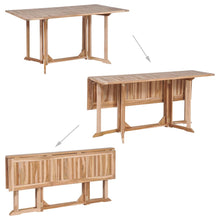Load image into Gallery viewer, 6 Seater Folding Outdoor Dining Set Teak Wood