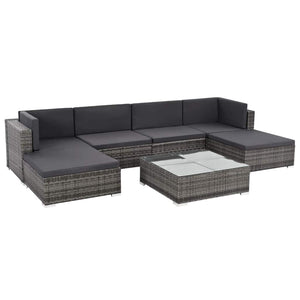 Fareena 7 PCs Outdoor Lounge With Coffee Table