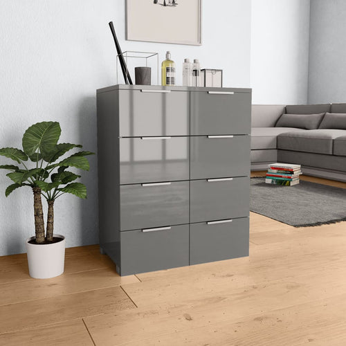 Modern Grey Color Chest of Drawer