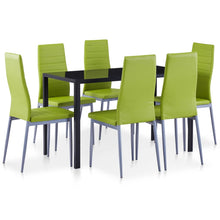 Load image into Gallery viewer, Fafeen Black and Green Dining Set