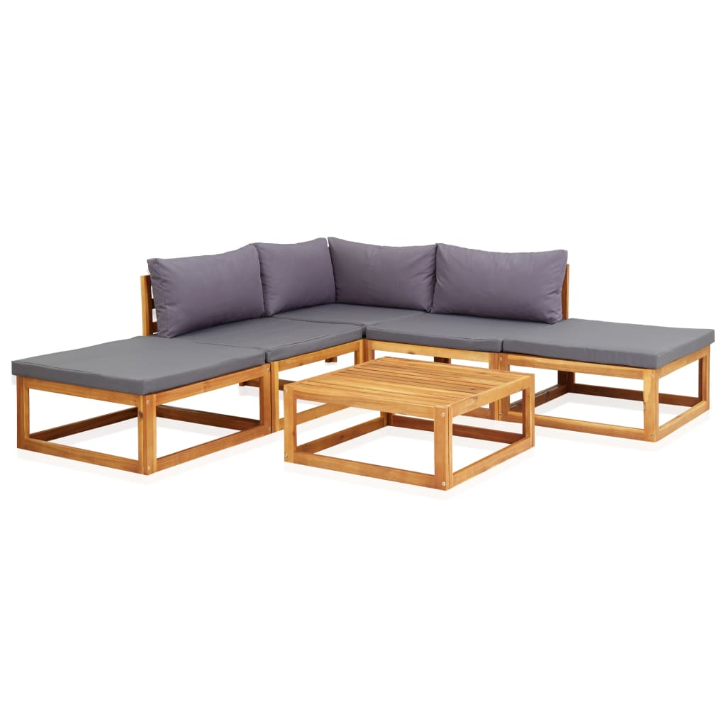 6 Piece Wooden Acacia Lounge set