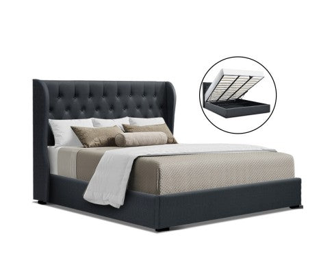 Luxury Fabric Gas lift Bed Frame