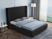 Load image into Gallery viewer, Modern Luxury Black Salfa Bed Frame