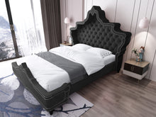 Load image into Gallery viewer, Luxurious Velvet Princess Bed Frame Black