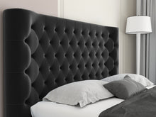 Load image into Gallery viewer, Luxury Xesuper Tufted Fabric Bed Frame Black
