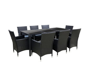 9pc Wicker Outdoor Setting