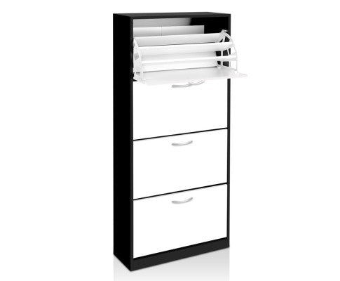 Beautiful Shoe Cabinet Black and White
