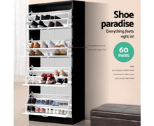 Load image into Gallery viewer, Beautiful Shoe Cabinet Black and White