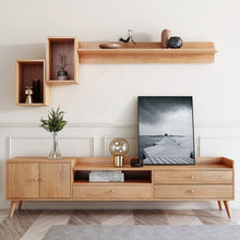 Load image into Gallery viewer, LUZEEQ Premium Walnut Wood Tv Cabinet unit