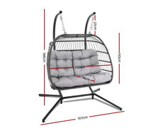 Load image into Gallery viewer, 2 Seater Hanging swing Hammock Chair