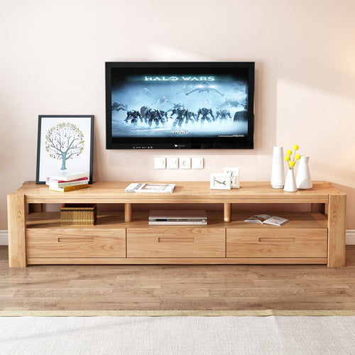 Ultra Solid Premium Walnut Wood Tv Cabinet Entertainment Unit