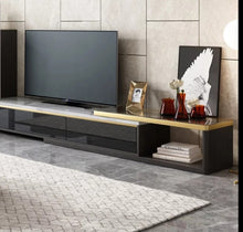 Load image into Gallery viewer, Ultra Modern All Black Entertainment Unit