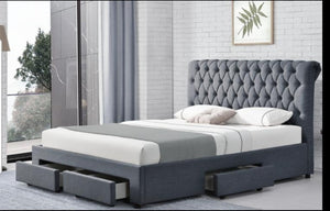 Stylish Shebley Premium Linen Sorage Bed