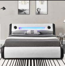 Load image into Gallery viewer, Freena Modern Music Led Light Gas Lift Bed