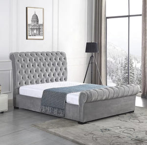 Laiza Velvet Modern Gas Lift Bed Frame