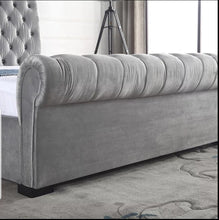 Load image into Gallery viewer, Laiza Velvet Modern Gas Lift Bed Frame