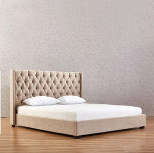 Lissa Gas Lift Modern Tufted Fabric bed Frame