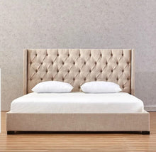 Load image into Gallery viewer, Lissa Gas Lift Modern Tufted Fabric bed Frame