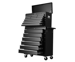 Giantz Tool Box Chest Trolley 16 Drawers Cabinet Cart garage  tool box black