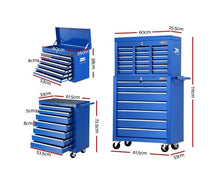 Load image into Gallery viewer, Giantz 17 Drawers Tool Box storage Cabinet Cart