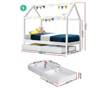 Load image into Gallery viewer, Kids Canopy Bed with Drawers