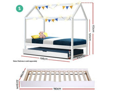 Load image into Gallery viewer, Kids Canopy Trundle Bed