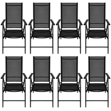 Load image into Gallery viewer, Matt black outdoor 8 Seater Dining Set