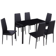 Load image into Gallery viewer, 7 Pc Glass Dining Set